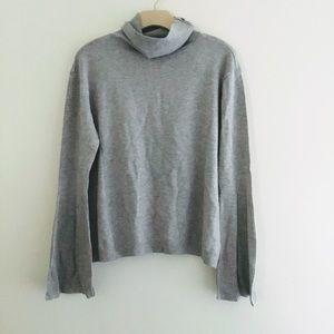 525 America gray turtleneck sweater